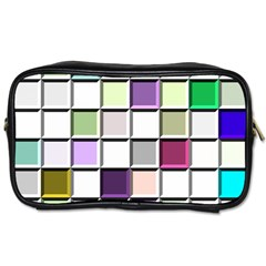 Color Tiles Abstract Mosaic Background Toiletries Bags 2 Side