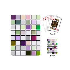 Color Tiles Abstract Mosaic Background Playing Cards (Mini)