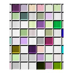Color Tiles Abstract Mosaic Background Shower Curtain 60  X 72  (medium)