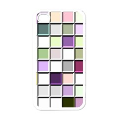 Color Tiles Abstract Mosaic Background Apple Iphone 4 Case (white)