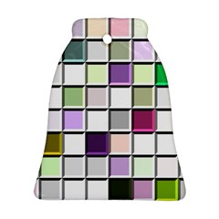 Color Tiles Abstract Mosaic Background Ornament (bell)
