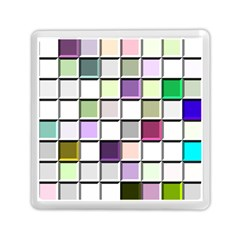 Color Tiles Abstract Mosaic Background Memory Card Reader (square)
