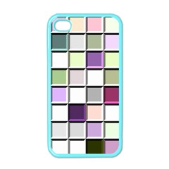 Color Tiles Abstract Mosaic Background Apple Iphone 4 Case (color)