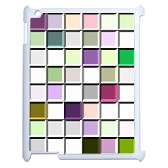 Color Tiles Abstract Mosaic Background Apple iPad 2 Case (White)