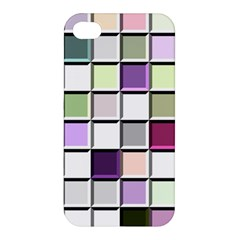 Color Tiles Abstract Mosaic Background Apple Iphone 4/4s Hardshell Case