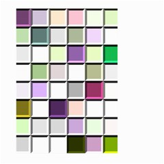 Color Tiles Abstract Mosaic Background Large Garden Flag (Two Sides)