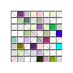Color Tiles Abstract Mosaic Background Acrylic Tangram Puzzle (4  x 4 )