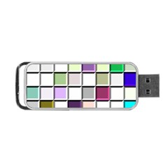Color Tiles Abstract Mosaic Background Portable USB Flash (One Side)