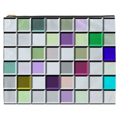 Color Tiles Abstract Mosaic Background Cosmetic Bag (XXXL)