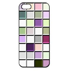 Color Tiles Abstract Mosaic Background Apple Iphone 5 Seamless Case (black)