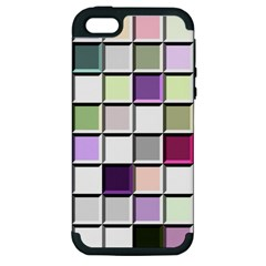 Color Tiles Abstract Mosaic Background Apple iPhone 5 Hardshell Case (PC+Silicone)