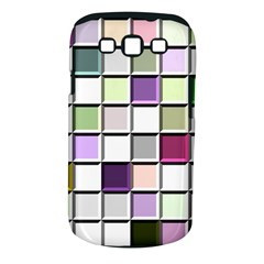 Color Tiles Abstract Mosaic Background Samsung Galaxy S III Classic Hardshell Case (PC+Silicone)