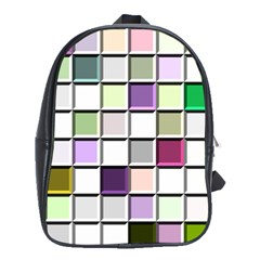 Color Tiles Abstract Mosaic Background School Bags (XL)