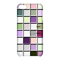 Color Tiles Abstract Mosaic Background Apple iPod Touch 5 Hardshell Case with Stand