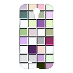 Color Tiles Abstract Mosaic Background Samsung Galaxy S4 I9500/i9505 Hardshell Case