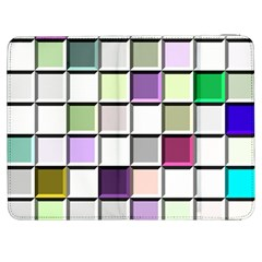 Color Tiles Abstract Mosaic Background Samsung Galaxy Tab 7  P1000 Flip Case