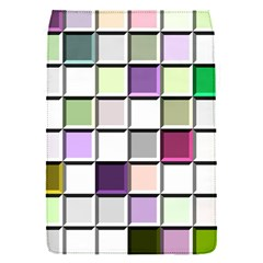 Color Tiles Abstract Mosaic Background Flap Covers (S)