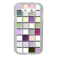 Color Tiles Abstract Mosaic Background Samsung Galaxy Grand DUOS I9082 Case (White)