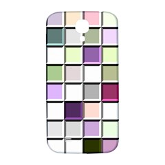 Color Tiles Abstract Mosaic Background Samsung Galaxy S4 I9500/I9505  Hardshell Back Case