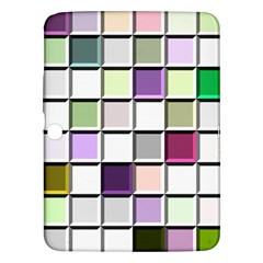 Color Tiles Abstract Mosaic Background Samsung Galaxy Tab 3 (10.1 ) P5200 Hardshell Case