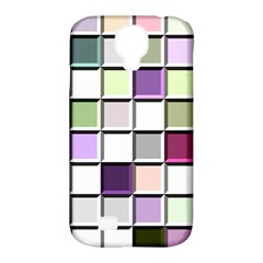 Color Tiles Abstract Mosaic Background Samsung Galaxy S4 Classic Hardshell Case (PC+Silicone)