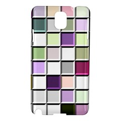 Color Tiles Abstract Mosaic Background Samsung Galaxy Note 3 N9005 Hardshell Case