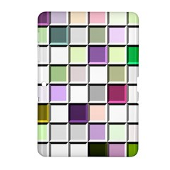 Color Tiles Abstract Mosaic Background Samsung Galaxy Tab 2 (10.1 ) P5100 Hardshell Case