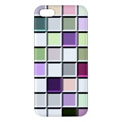 Color Tiles Abstract Mosaic Background iPhone 5S/ SE Premium Hardshell Case
