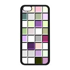 Color Tiles Abstract Mosaic Background Apple iPhone 5C Seamless Case (Black)