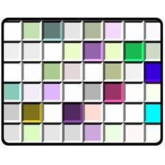 Color Tiles Abstract Mosaic Background Double Sided Fleece Blanket (Medium)