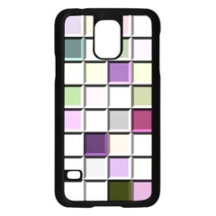 Color Tiles Abstract Mosaic Background Samsung Galaxy S5 Case (Black)