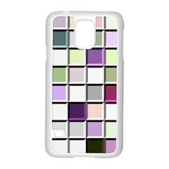 Color Tiles Abstract Mosaic Background Samsung Galaxy S5 Case (white)