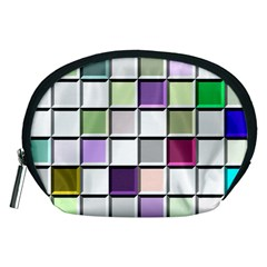 Color Tiles Abstract Mosaic Background Accessory Pouches (Medium)