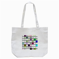 Color Tiles Abstract Mosaic Background Tote Bag (White)