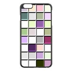 Color Tiles Abstract Mosaic Background Apple iPhone 6 Plus/6S Plus Black Enamel Case