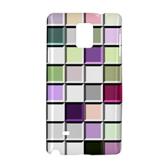 Color Tiles Abstract Mosaic Background Samsung Galaxy Note 4 Hardshell Case