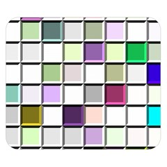 Color Tiles Abstract Mosaic Background Double Sided Flano Blanket (Small)