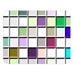 Color Tiles Abstract Mosaic Background Double Sided Flano Blanket (large)