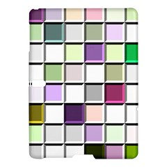 Color Tiles Abstract Mosaic Background Samsung Galaxy Tab S (10.5 ) Hardshell Case