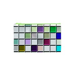Color Tiles Abstract Mosaic Background Cosmetic Bag (xs)