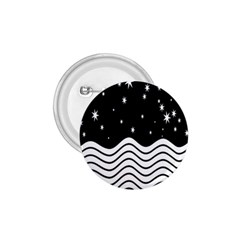 Black And White Waves And Stars Abstract Backdrop Clipart 1 75  Buttons