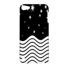 Black And White Waves And Stars Abstract Backdrop Clipart Apple iPod Touch 5 Hardshell Case