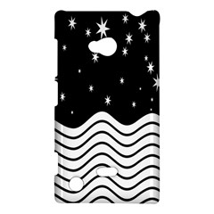 Black And White Waves And Stars Abstract Backdrop Clipart Nokia Lumia 720
