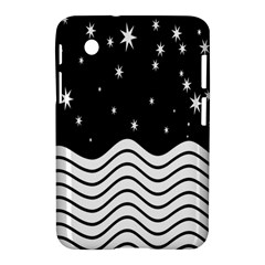 Black And White Waves And Stars Abstract Backdrop Clipart Samsung Galaxy Tab 2 (7 ) P3100 Hardshell Case