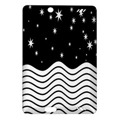 Black And White Waves And Stars Abstract Backdrop Clipart Amazon Kindle Fire Hd (2013) Hardshell Case