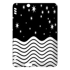 Black And White Waves And Stars Abstract Backdrop Clipart Kindle Fire HDX Hardshell Case