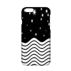 Black And White Waves And Stars Abstract Backdrop Clipart Apple iPhone 6/6S Hardshell Case