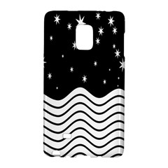Black And White Waves And Stars Abstract Backdrop Clipart Galaxy Note Edge