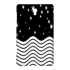Black And White Waves And Stars Abstract Backdrop Clipart Samsung Galaxy Tab S (8 4 ) Hardshell Case