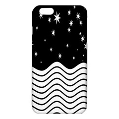 Black And White Waves And Stars Abstract Backdrop Clipart Iphone 6 Plus/6s Plus Tpu Case